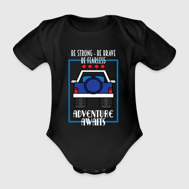 Hilarious Awesome & Trendy Tshirt Designs Adventures väntar - Ekologisk kortärmad babybody