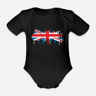 Ireland Flag melts flowing fresh color gift - Organic Short-sleeved Baby Bodysuit
