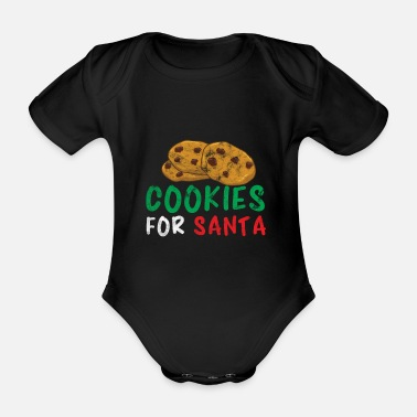 Milking Christmas cookies baking Christmas baking - Organic Short-sleeved Baby Bodysuit