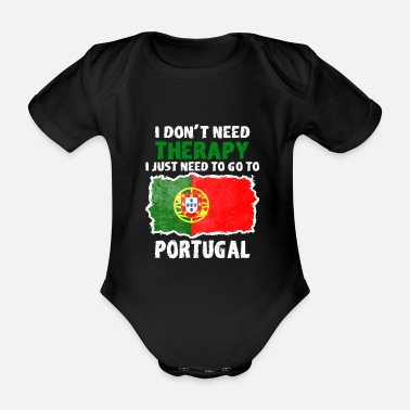 City Portugal Portuguese gift gift idea country - Organic Short-sleeved Baby Bodysuit