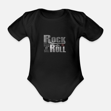 Indie ROCK N ROLL CIRCUS HARD E-GUITAR Gift - Organic Short-sleeved Baby Bodysuit