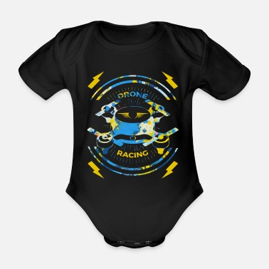 Cameroun Spreadshirt T-shirt | Course de drone pilote - Body bébé bio manches courtes