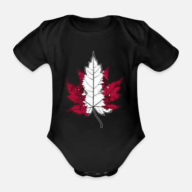 Home Country Canada home country - Organic Short-Sleeved Baby Bodysuit