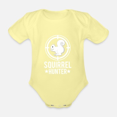 Chase Chasing squirrels - Organic Short-Sleeved Baby Bodysuit