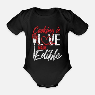 Affection Cooking affection - Organic Short-sleeved Baby Bodysuit