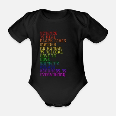 Slogan Peace slogans - Organic Short-Sleeved Baby Bodysuit