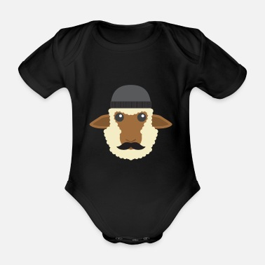Little Creatures Funny sheep - Organic Short-sleeved Baby Bodysuit