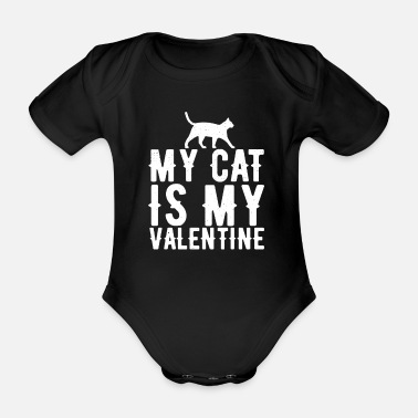 Burma cat - Organic Short-sleeved Baby Bodysuit