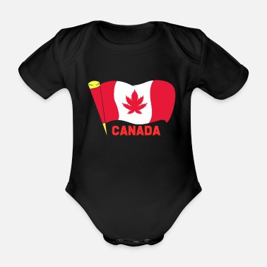 Weed Canada Weed - Organic Short-Sleeved Baby Bodysuit