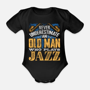 Metal The old man plays jazz music - Organic Short-sleeved Baby Bodysuit