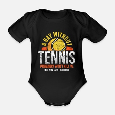 Ball Tennis lovers - Organic Short-sleeved Baby Bodysuit