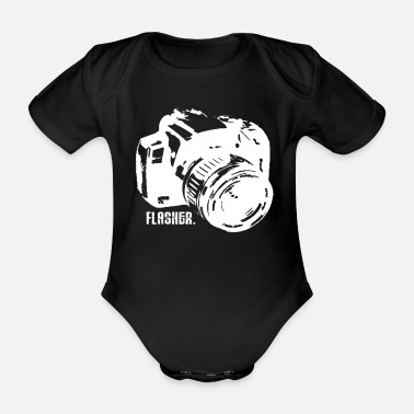 Lightning Photographer Photography Camera Camera Gift - Organic Short-sleeved Baby Bodysuit
