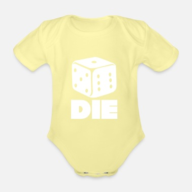 Dice Dice Dice Gift Games - Organic Short-Sleeved Baby Bodysuit