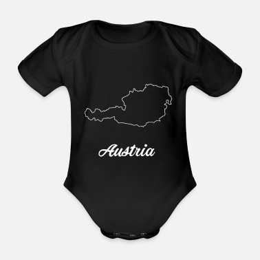 Cards Austria map - Organic Short-sleeved Baby Bodysuit