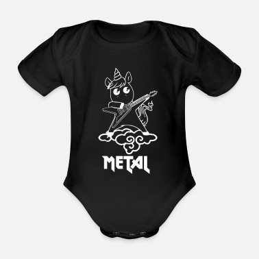 Rock Am Ring Metal Einhorn - Einhorn liebt Metal - Baby Bio-Kurzarm-Body