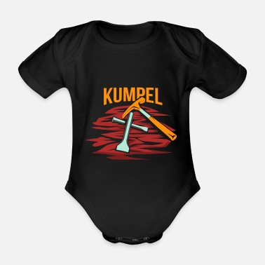 Worker Miner tunnel ditch - Organic Short-sleeved Baby Bodysuit