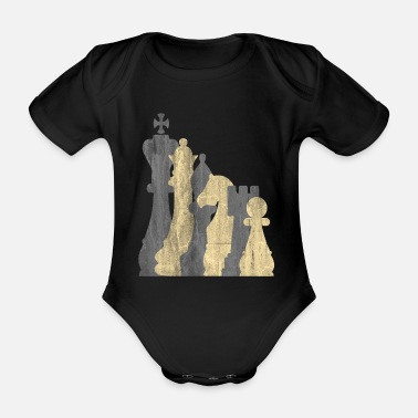 Board Game Chess board game - Organic Short-sleeved Baby Bodysuit