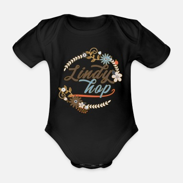 Sexy Lindy Hop Vintage Swing Dance Retro Shirts - Organic Short-sleeved Baby Bodysuit