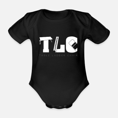 Tlc TLC Wrestling Match Gift Tables Ladders Chairs - Organic Short-Sleeved Baby Bodysuit