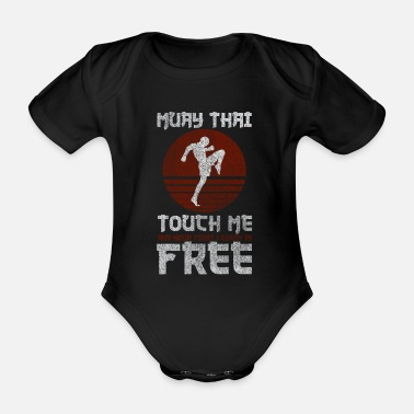 Kick Muay Thai Thai boxing gift fighting kick - Organic Short-sleeved Baby Bodysuit