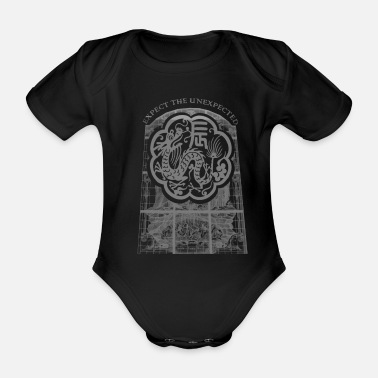 Mythical Beast The mythical beast dragon head monster creature - Organic Short-Sleeved Baby Bodysuit