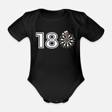 Genezing Funny Darts gift Gift voor Dart Players: On the - Baby bio-rompertje met korte mouwen