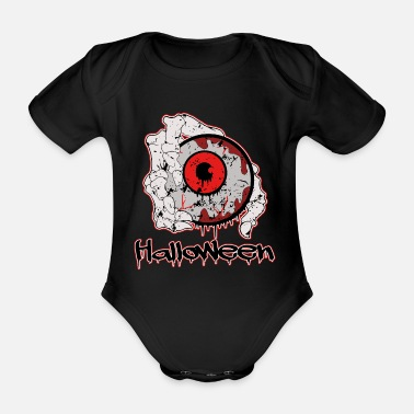 Scary Halloween - Scary - Organic Short-Sleeved Baby Bodysuit