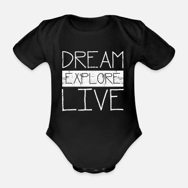 Cruise Dream, explore and travel - Organic Short-sleeved Baby Bodysuit