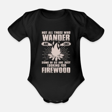 I Love My Camp hiking fire tent gift - Organic Short-sleeved Baby Bodysuit