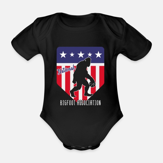 National Babykleidung - National Bigfoot Association Basketball - Baby Bio Kurzarmbody Schwarz