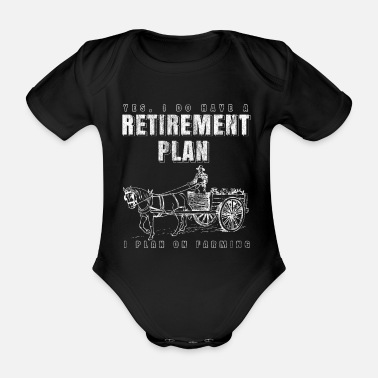 Hog Agriculture Farmer Pensions - Organic Short-sleeved Baby Bodysuit