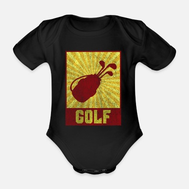 Association Golf Retro Golf Club Tee Caddy Gift - Organic Short-sleeved Baby Bodysuit