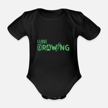 Painting Paint Paint Paint - Organic Short-Sleeved Baby Bodysuit