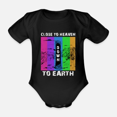 Freestyle snowboard - Organic Short-Sleeved Baby Bodysuit