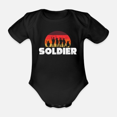 Tillsammans Soldat Gift Occupation Army Air Force Navy - Ekologisk kortärmad babybody
