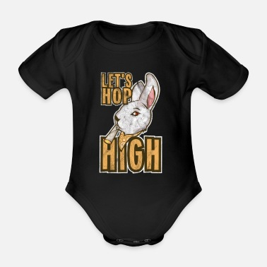 Ska Pothead Cartoon Bunny Grass Weed Marijuana Gift - Organic Short-Sleeved Baby Bodysuit
