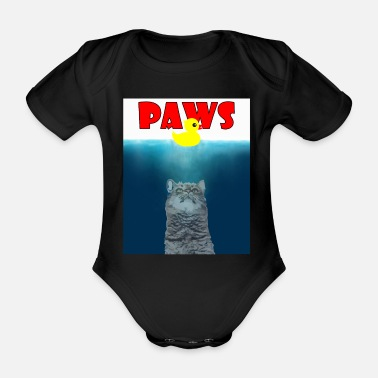 Paw Paws - Paws - - Organic Short-Sleeved Baby Bodysuit