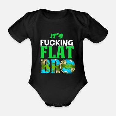 Ufo Flat Earth Society Reptiloid Conspiracy - Organic Short-Sleeved Baby Bodysuit