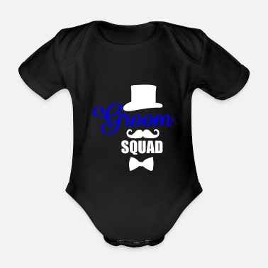 Groom groom - Organic Short-Sleeved Baby Bodysuit