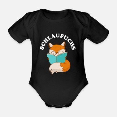 Clever Clever as a fox clever clever - Organic Short-Sleeved Baby Bodysuit