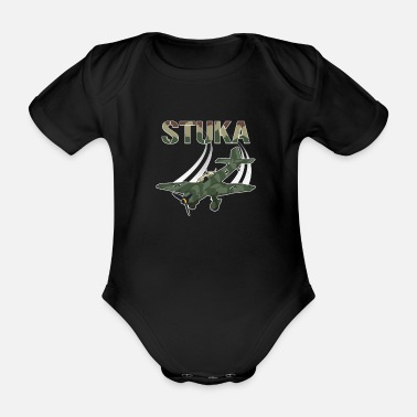 Fighter Stuka Model Fighter Aviation Gift Aviation - Organic Short-Sleeved Baby Bodysuit