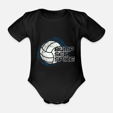 Training volleyball - Organic Short-Sleeved Baby Bodysuit