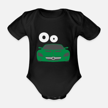 Car Alphabet Oo - Organic Short-Sleeved Baby Bodysuit