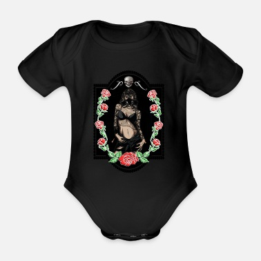 Trend Underwear Power Woman Feminism Gas Mask Rose Sexy Pride - Organic Short-Sleeved Baby Bodysuit
