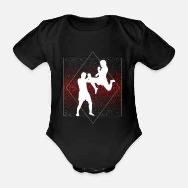 Martial Arts Kickboxing martial arts gift for everyone - Organic Short-Sleeved Baby Bodysuit