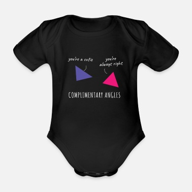Complimentary Complimentary Angels Mathematics Humor Teacher Nerd - Organic Short-Sleeved Baby Bodysuit