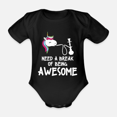 Shisha unicorn chill for all shisha smokers - Organic Short-Sleeved Baby Bodysuit