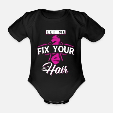Scissors hair stylist - Organic Short-Sleeved Baby Bodysuit