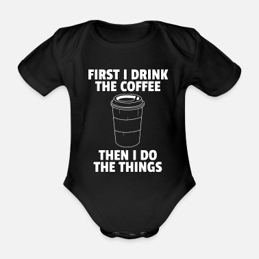 Latte Macchiato Coffee Coffee Coffee Drinker Tired morning gift - Organic Short-Sleeved Baby Bodysuit