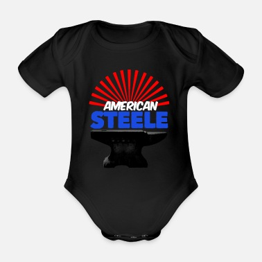 Steel American Steels - Organic Short-Sleeved Baby Bodysuit
